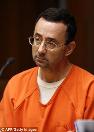 More than 130 victims have now filed lawsuits against Nassar (above) claiming he abused them under the guise of treatment